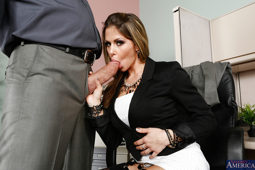 ... Caring milf Rachel Roxxx excites her boss with her blowjob skills ...