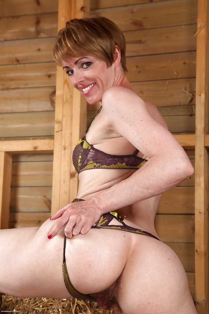Short hair mature milf