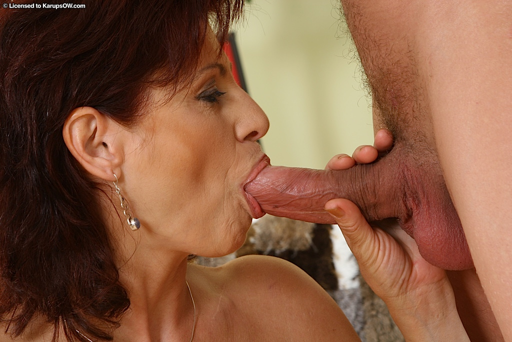 old mom blowjob