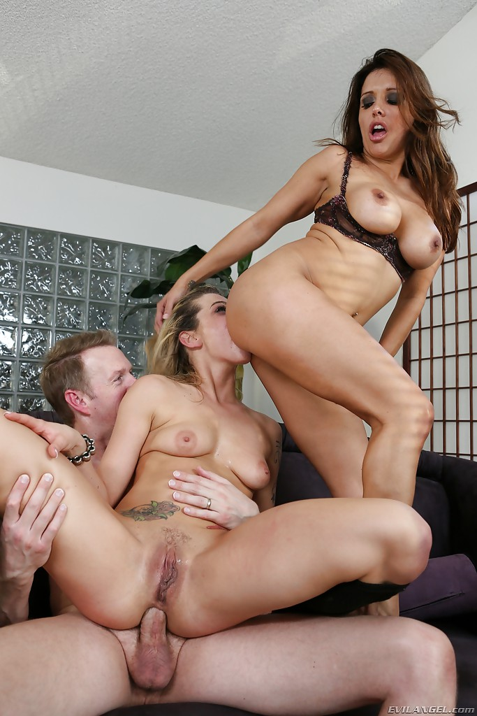 Rough Teen Anal Threesome