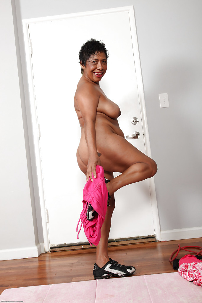 Fatty latina mature lassie getting naked and exposing her ...