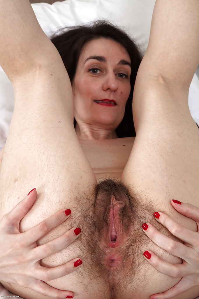 Are granny spreads hairy pussy all