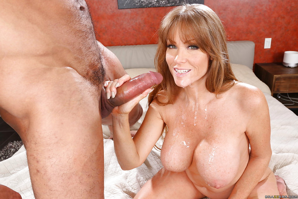 Fake-tit mature wife fucked by a black guy like a whore