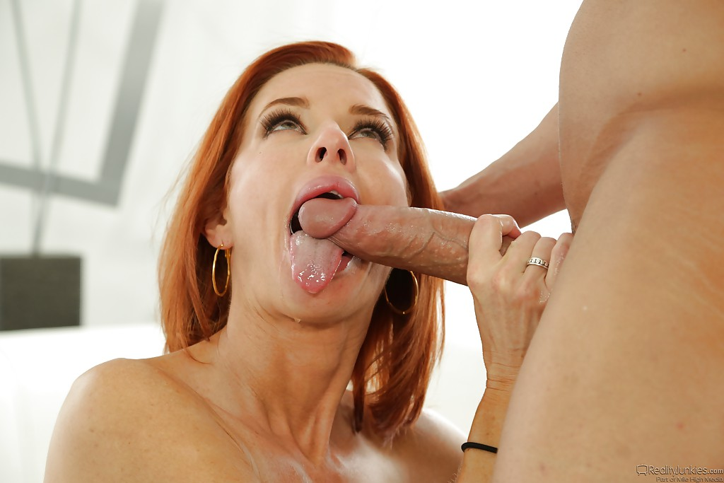 redhead milf with big tits veronica avluv swallows hot