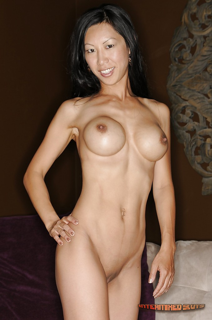 Skinny asian with big tits