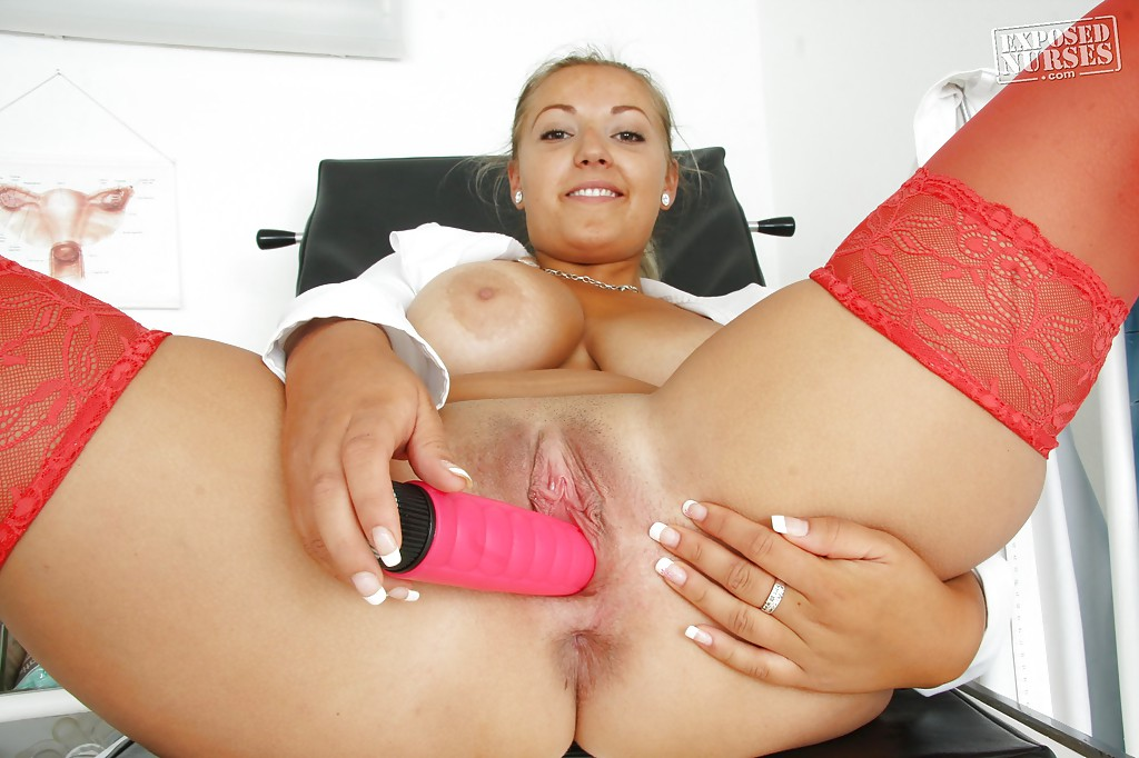 Shoving a dildo up her tight pussy 6