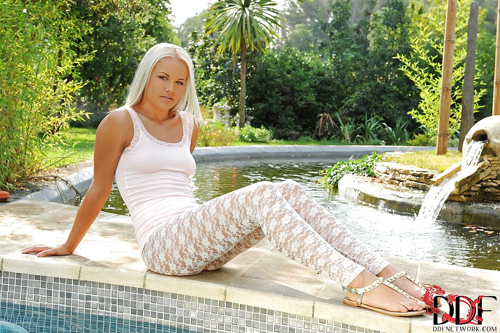 Delightful European girlie Evelyn displays her sensorial legs in foot fetish scene.  porn photo #320780829 | Hot Legs and Feet, Evelyn, Ass, Babe, Blonde, Close Up, European, Face, Foot Fetish, Legs, Outdoor, Pool, mobile porn