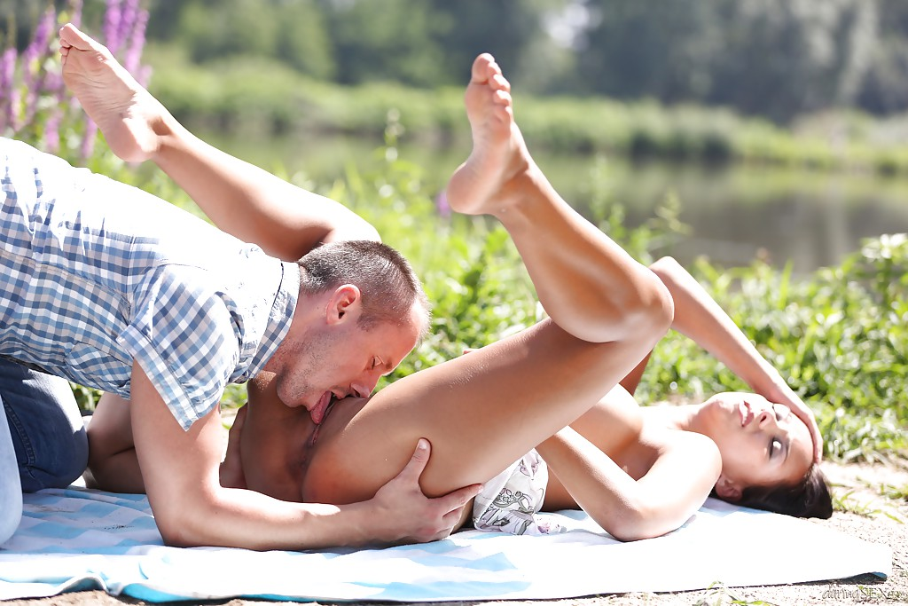 Couples outdoors sex