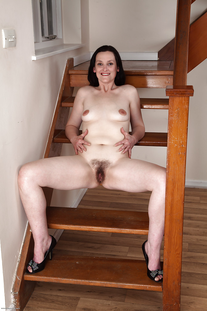 Excited too brunette lady mature