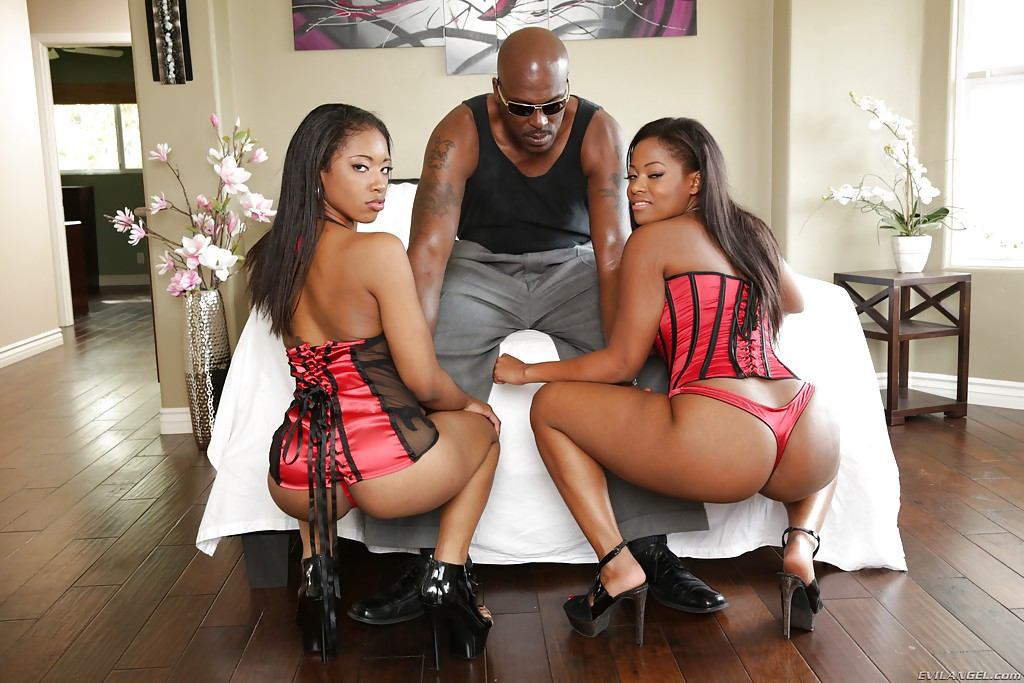Ebony sex party
