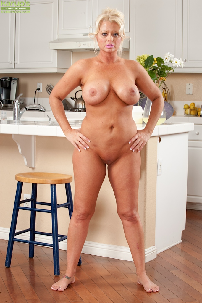 Charming message mature blonde porn kitchen
