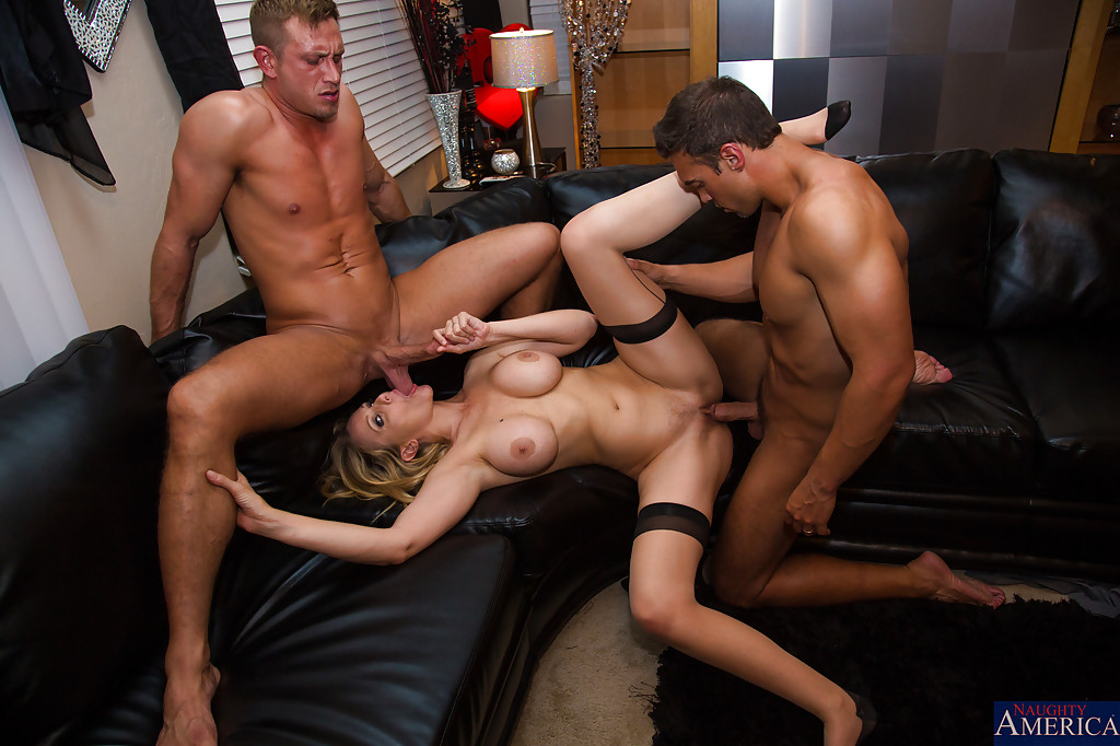 High class threesome two guys
