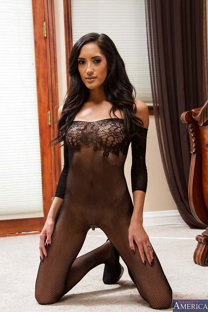 1d41a39b2dc ... Perfect Latina brunette Chloe Amour showing her body in bodystockings  ...