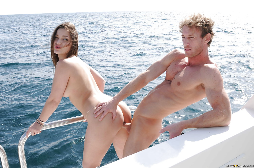 boat group sex - ... Groupsex with an astounding chick Dani Daniels outdoor on a boat ...
