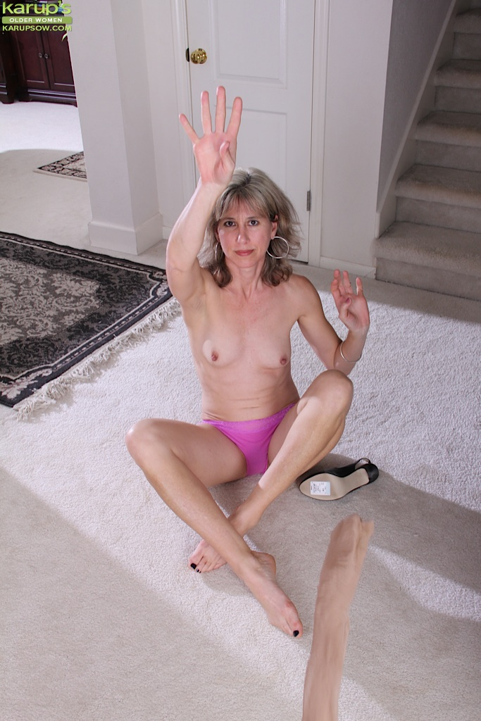 Slim hairy granny and young boy 3