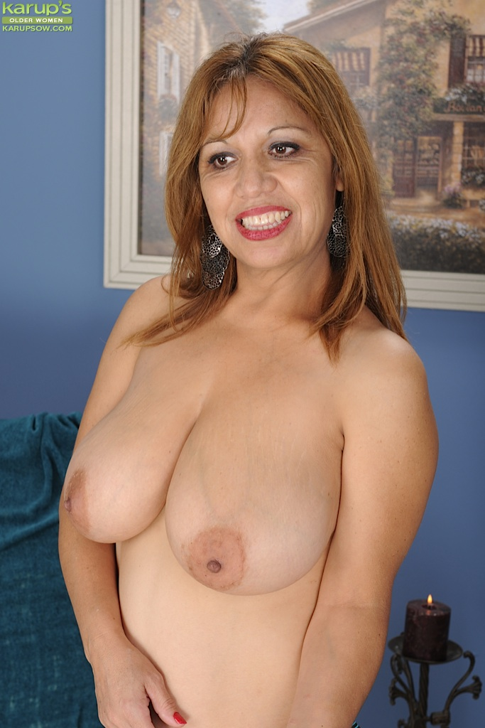 Big bitch mature tit