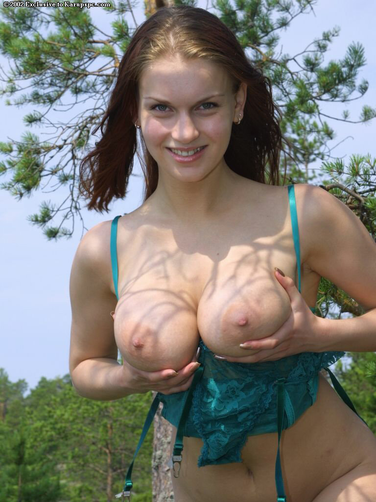 Amateur big tits outdoor blowjob punished 4