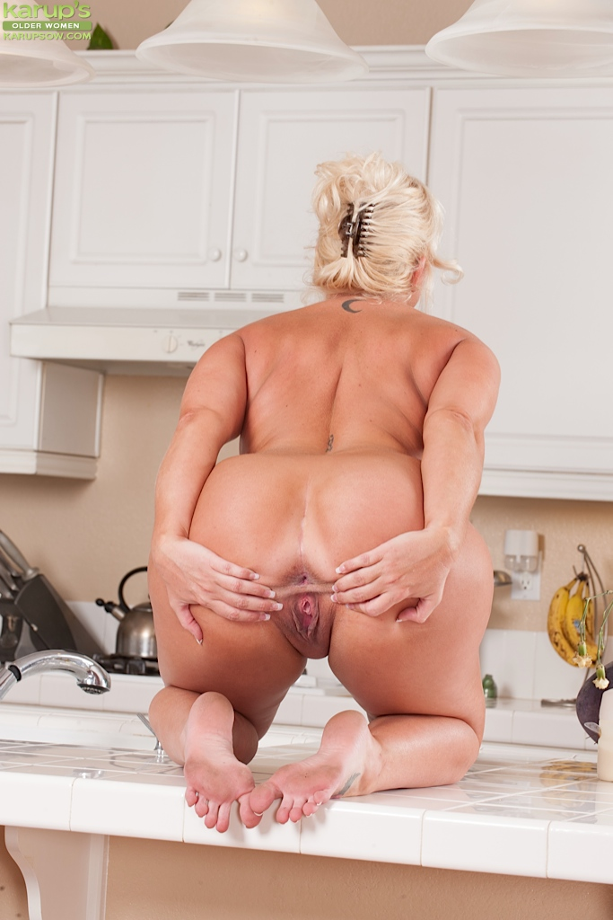 Delicious blonde milf in stockings pantyhose fucks lucky boy 10