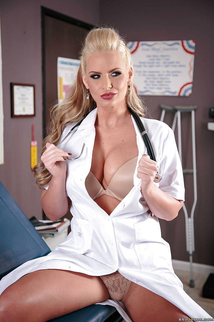 Nurse blonde tits