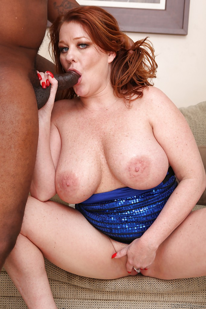 Milf interracial blowjob
