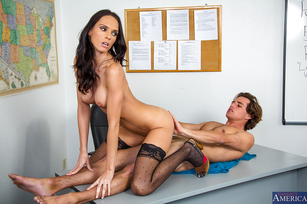 Sexy Teen School Girl Teasing And Exciting Her Teacher