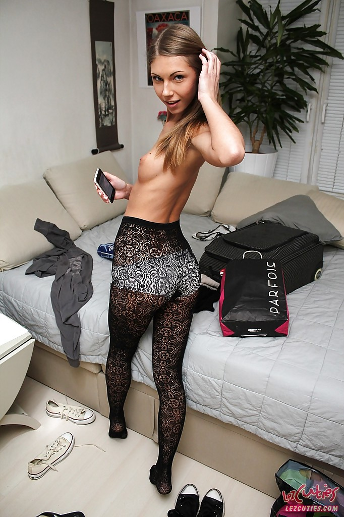 Tiny models in pantyhose Traffic min