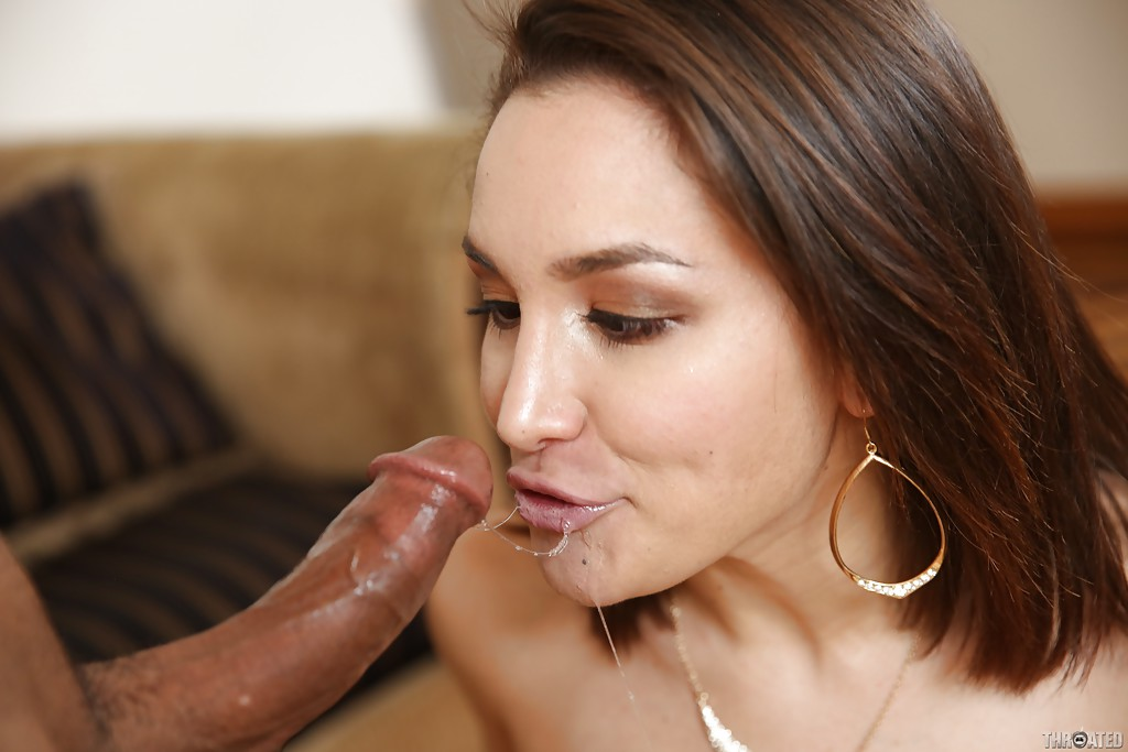 Brunette cumdodging slut enjoys bbc 5