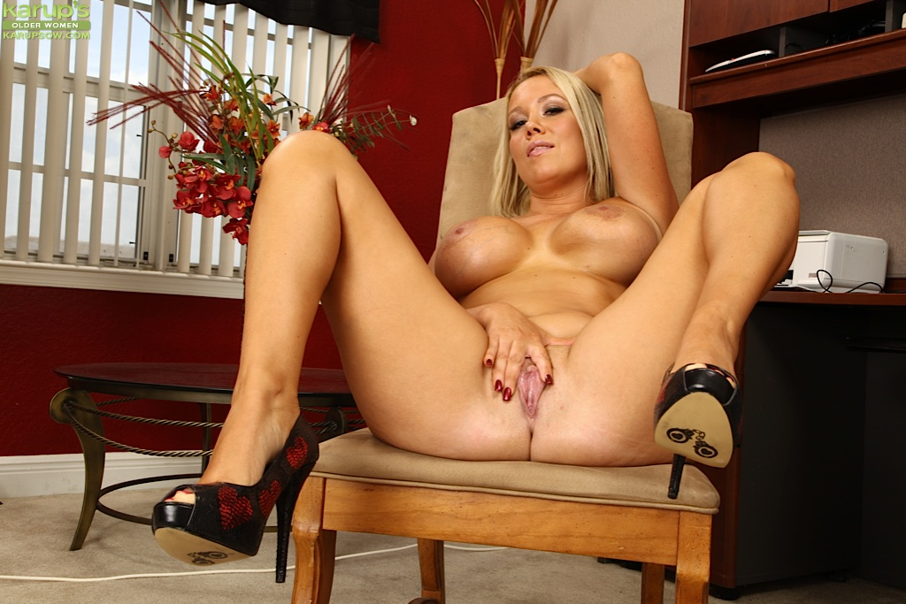 Good idea. Mature legs spread babe