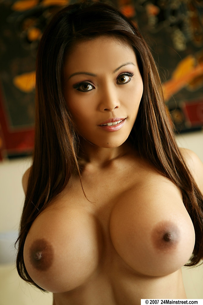 Enormous Tits Model - ... Lingerie porn model Maya Simone shows her perfect Asian big tits ...