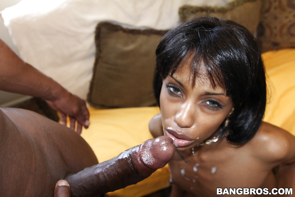 Ebony close up anal