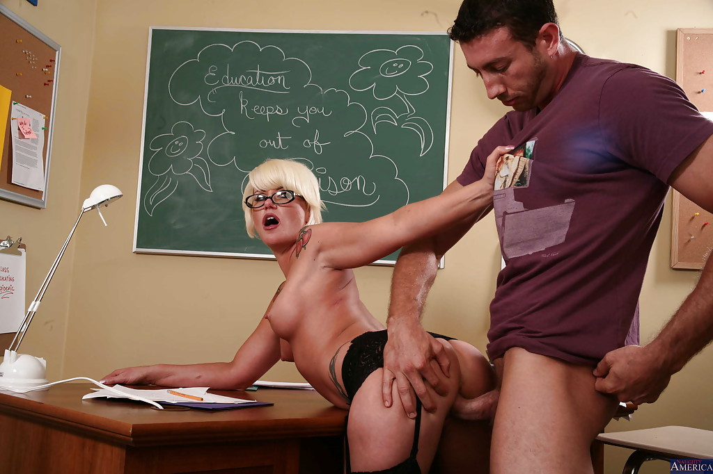 Hot gay sex teacher is sitting