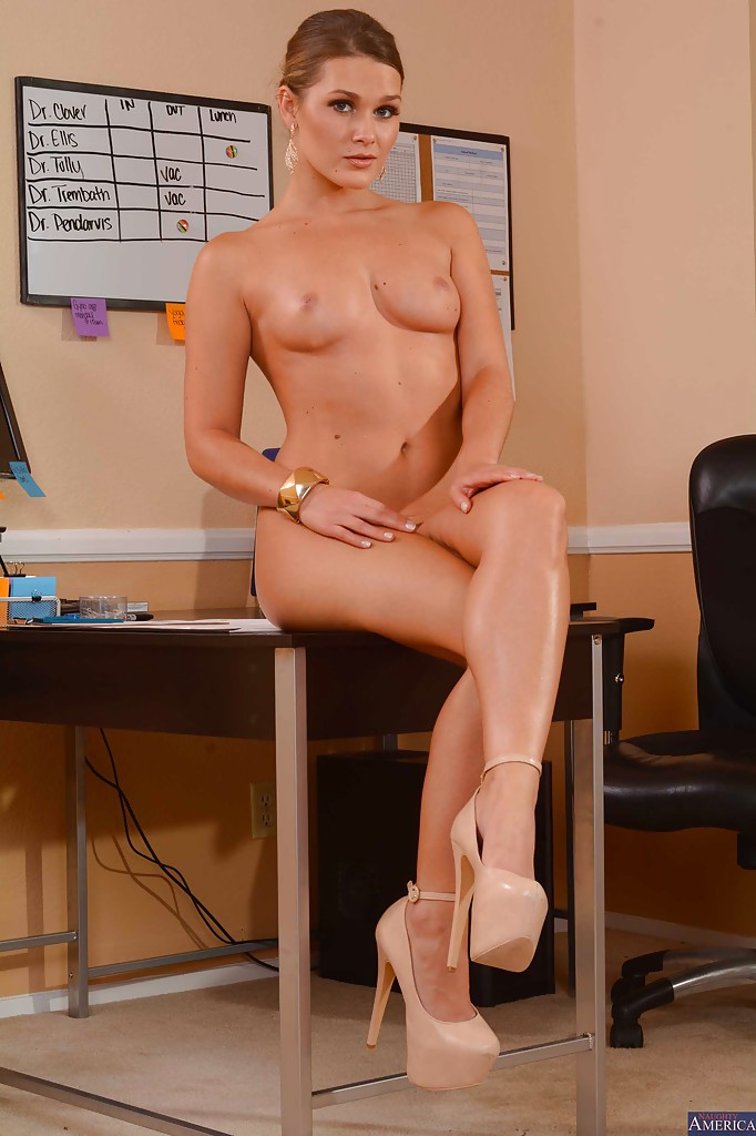 naughty office hardcore - ... Office babe Abby Cross poses in a sexy lingerie and high heels ...