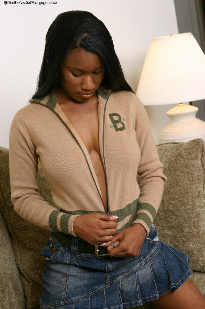 Ebony teen tease