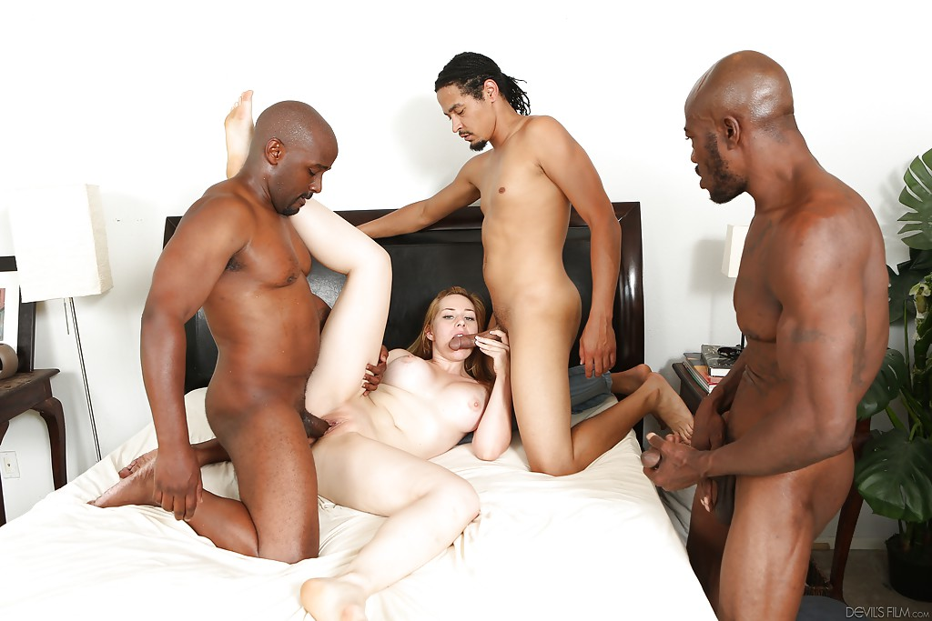 Interracial group sex picture