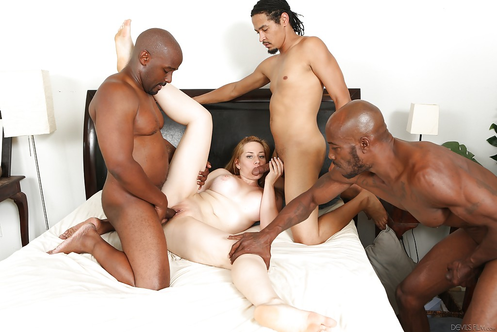 Big Dick Interracial Gangbang