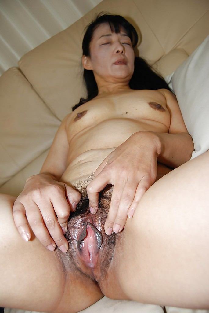 Japanese older pussy really