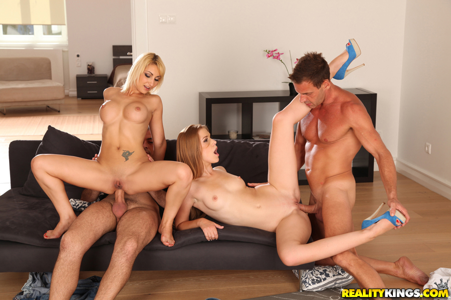 group sex european - ... European girls with big tits Celine Doll and Alexis Crystal having  groupsex ...
