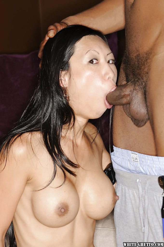 Asian big tits interracial