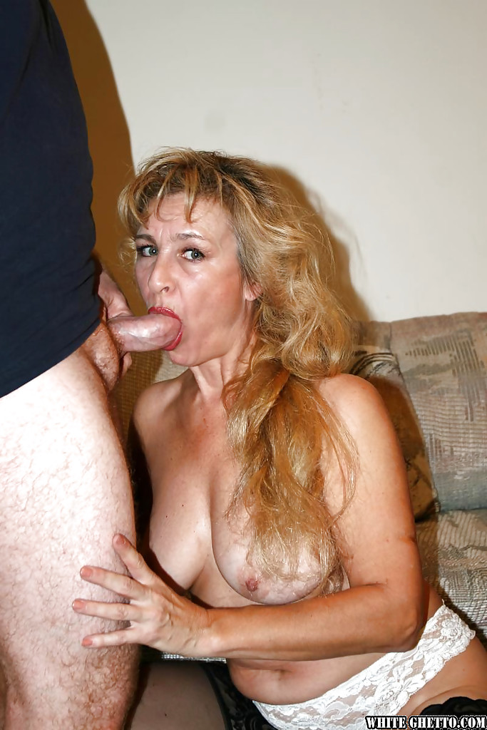 gorgeous big breasted mature blowjob
