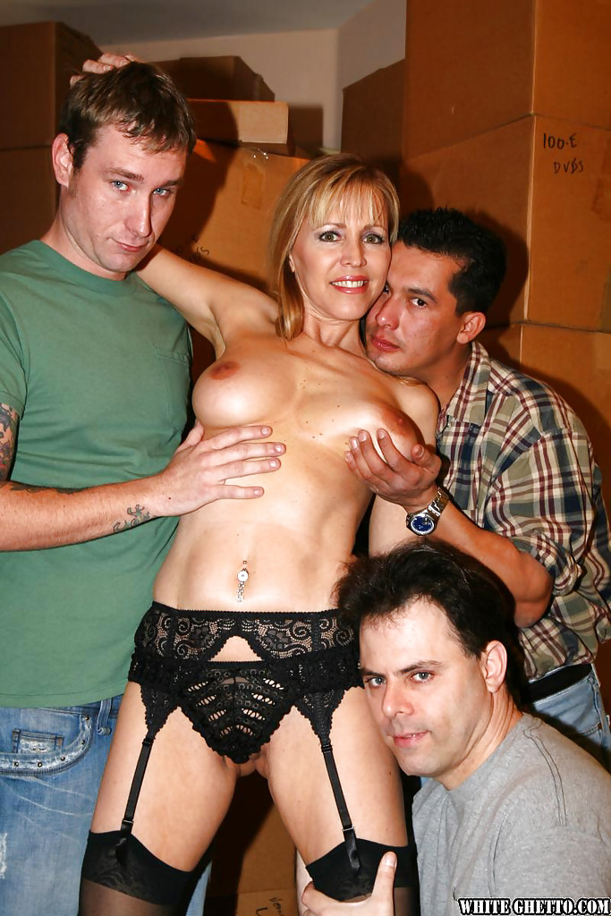 gangbang Old slut
