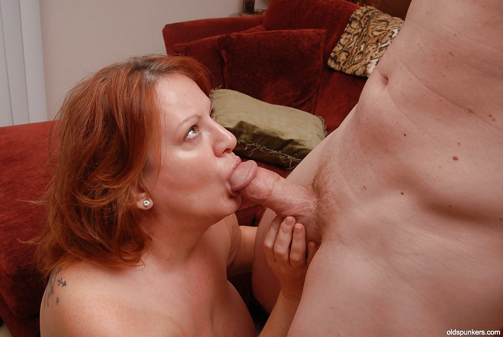 Mature blowjob and large face cum 6