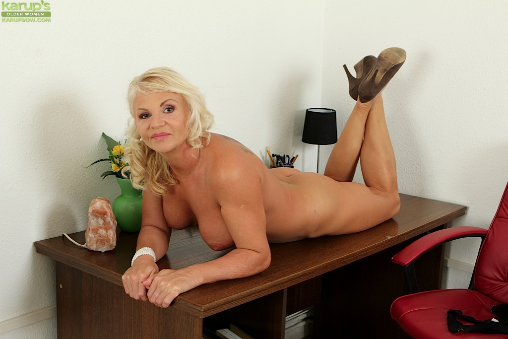 blonde tits office porn