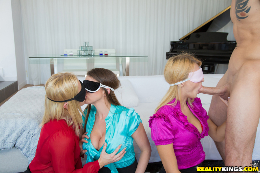 Clothed girls Ash Hollywood Natalia Starr Brooklyn Chase in a fetish scene