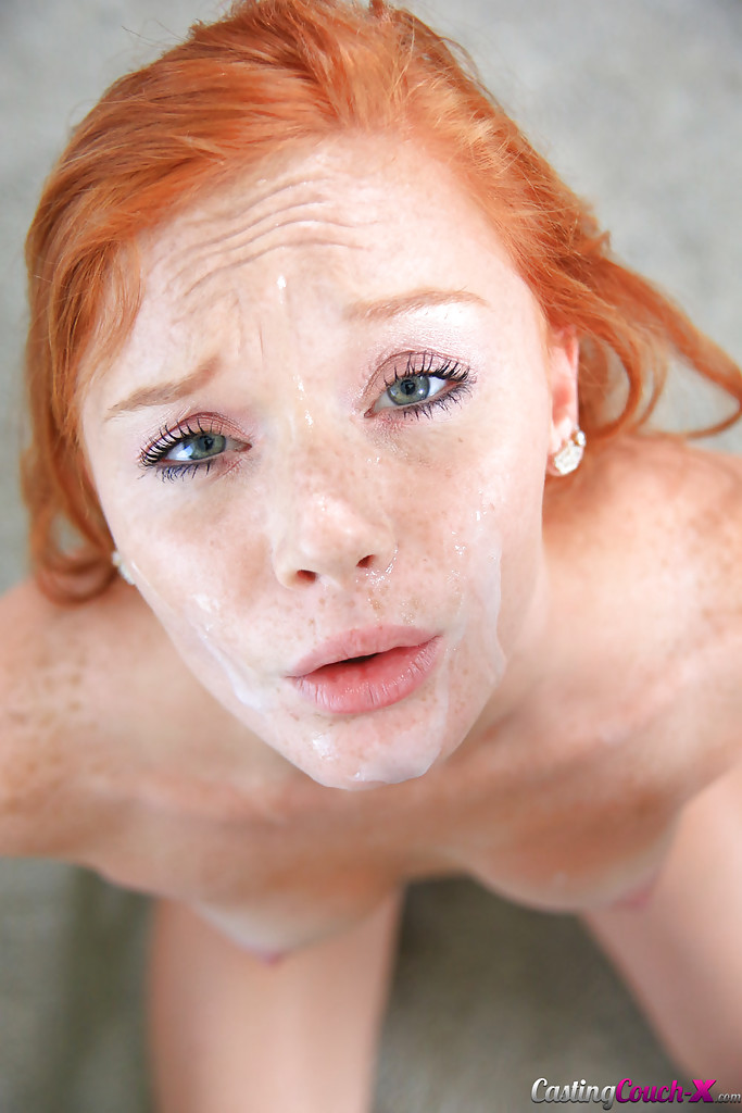 image Hot hot redhead cums nonstop on bbc 5 stars