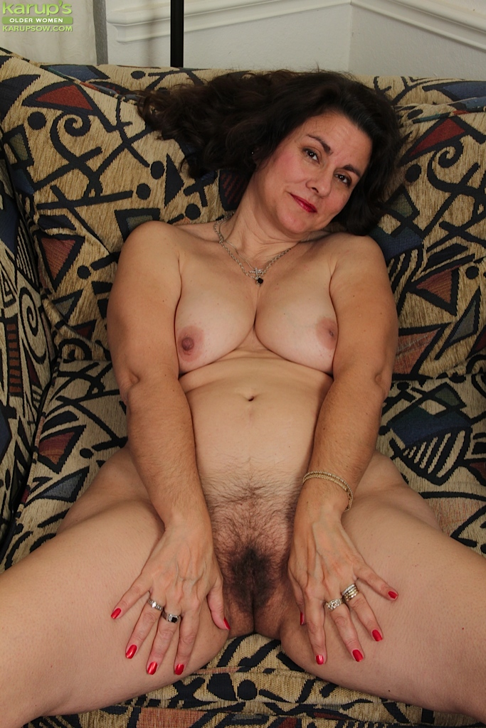 Hairy fatty mature solo