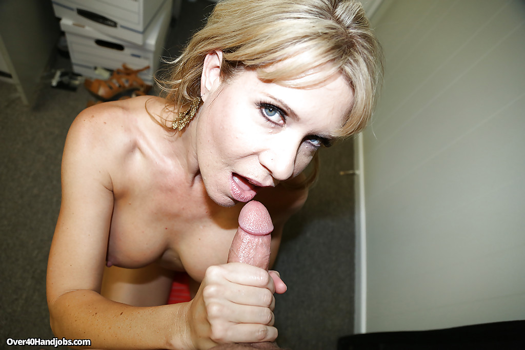 Idea Mature handjob cum shot what