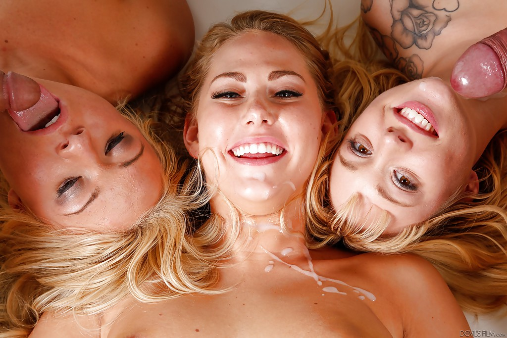 Group Sex With Cum On Face