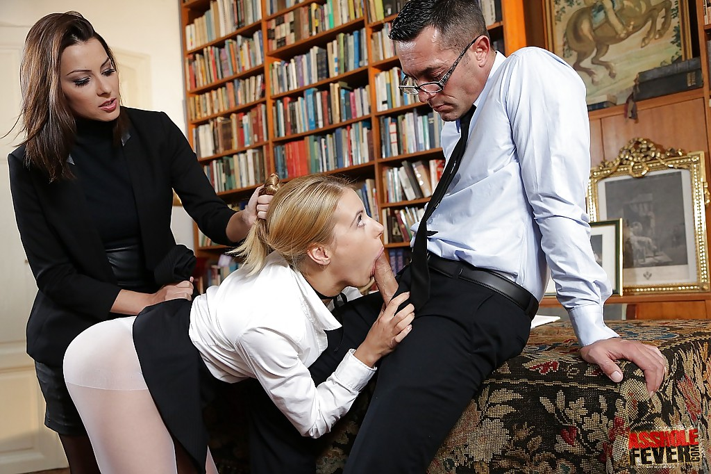 Secretary threesome video