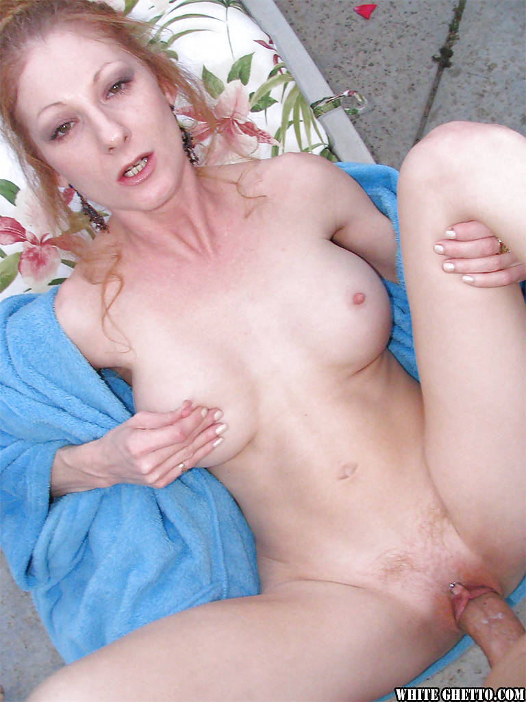 Naked slut cum hair