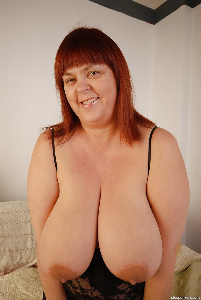 Huge old fat tits-9632